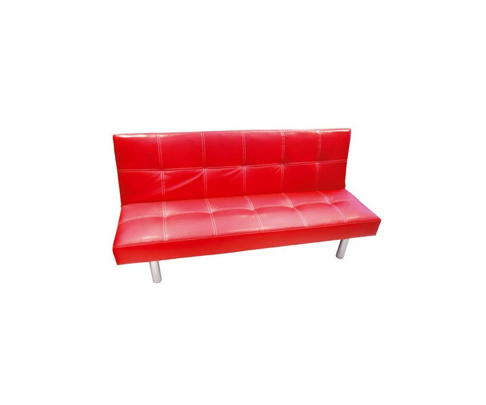 Sofa rojo beautiful shezlong sofa rojo with sofa rojo for Sofa cama colores