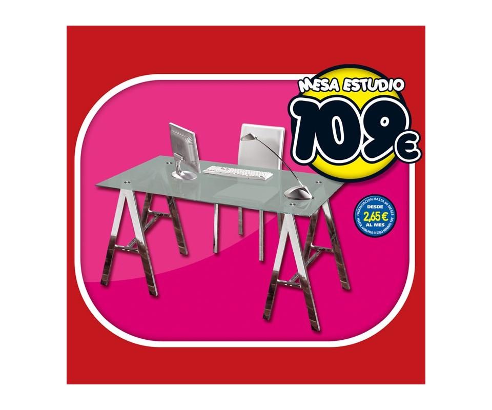 Comprar mesa despacho precio muebles auxiliares for Mesa cristal tuco