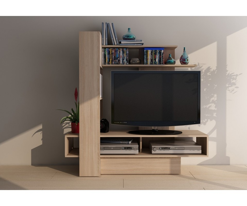 Comprar mesa de televisi n amatista roble precio de - Mesa de television ...