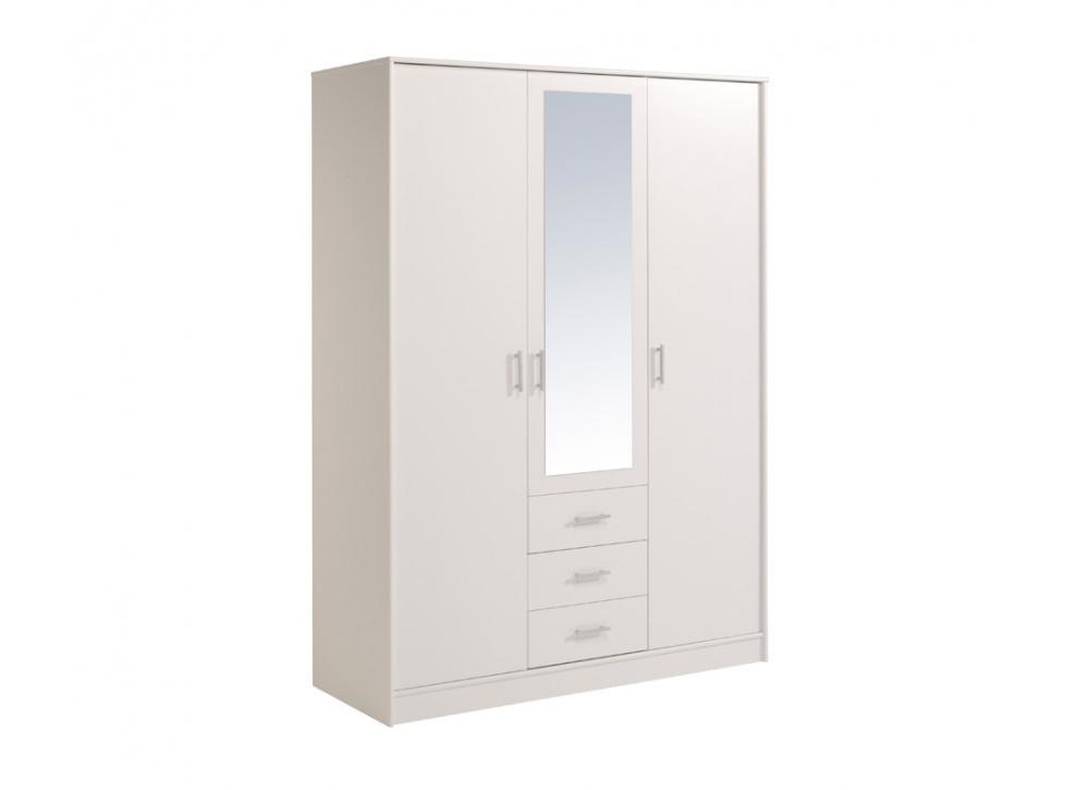 Armario tres puertas con espejo Oslo