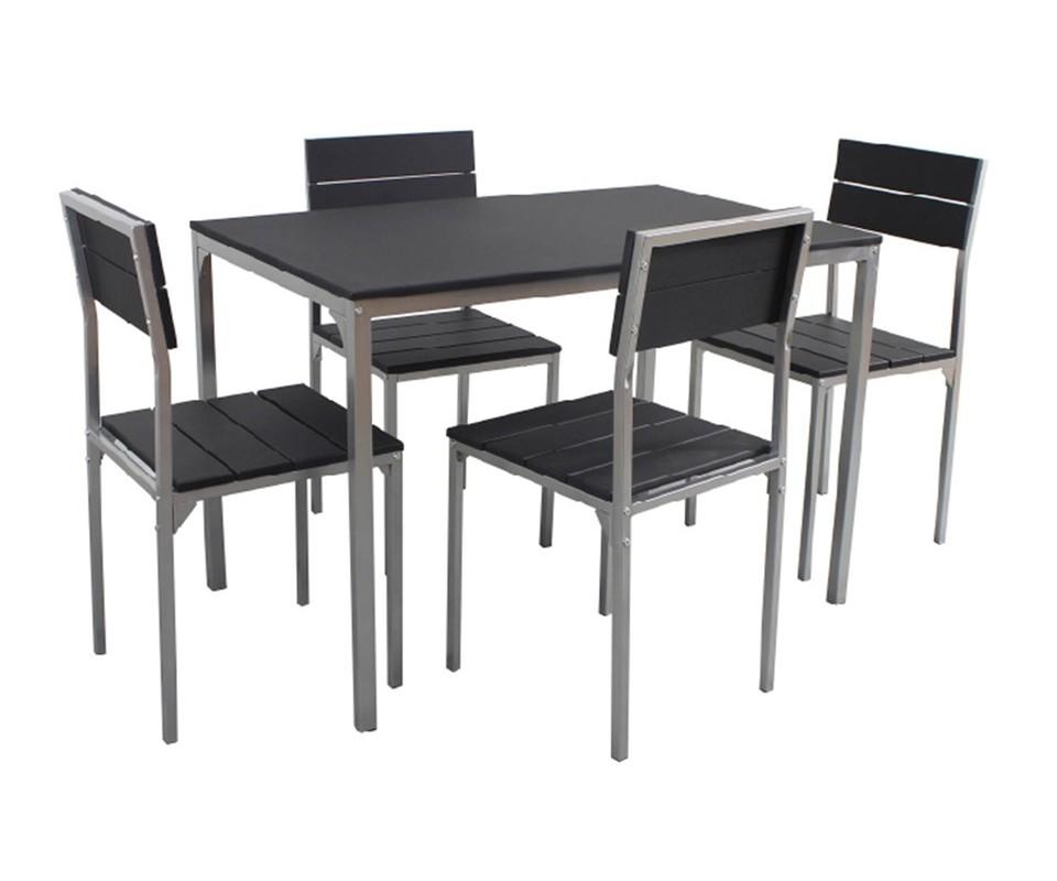 mesa y cuatro sillas de comedor ebro