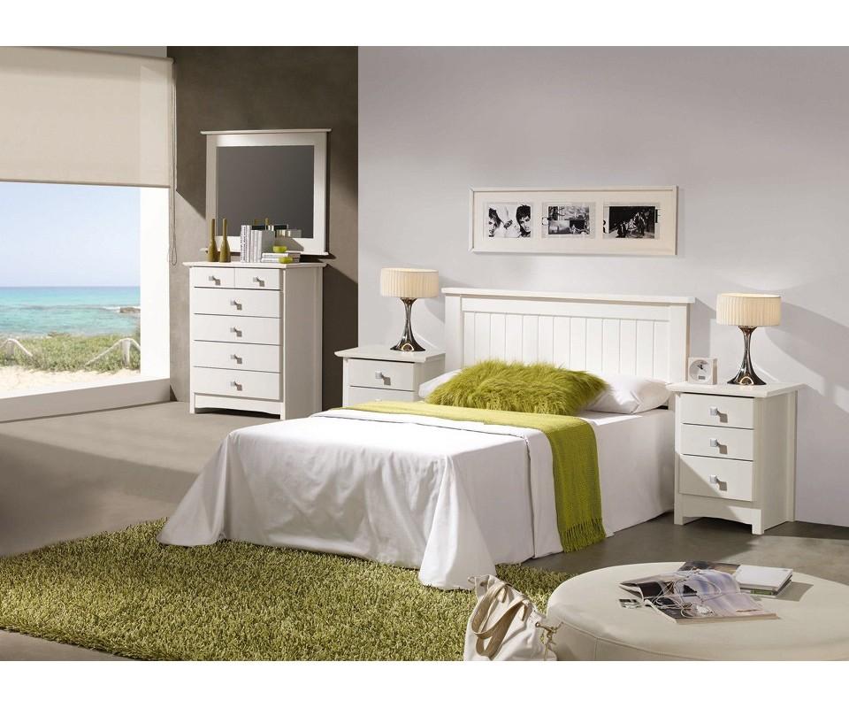 Comprar cabecero doble bari precio cabeceros y camas for Dormitorio blanco y madera