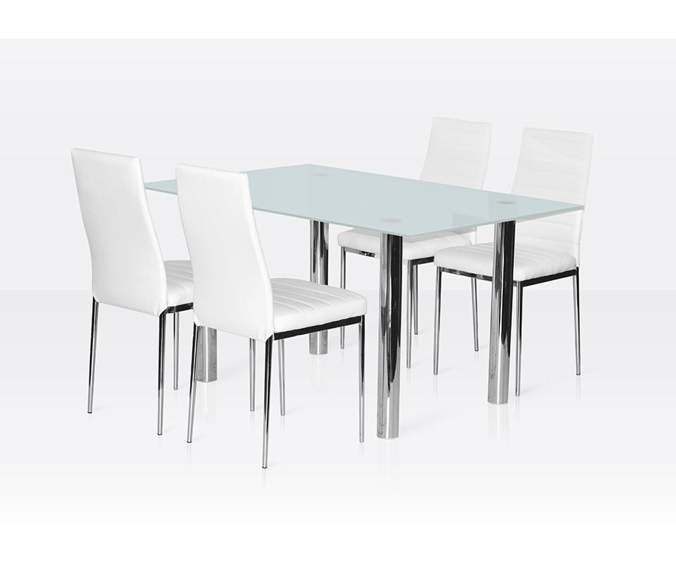 Comprar muebles a un euro precio mesas for Sillas cromadas para comedor