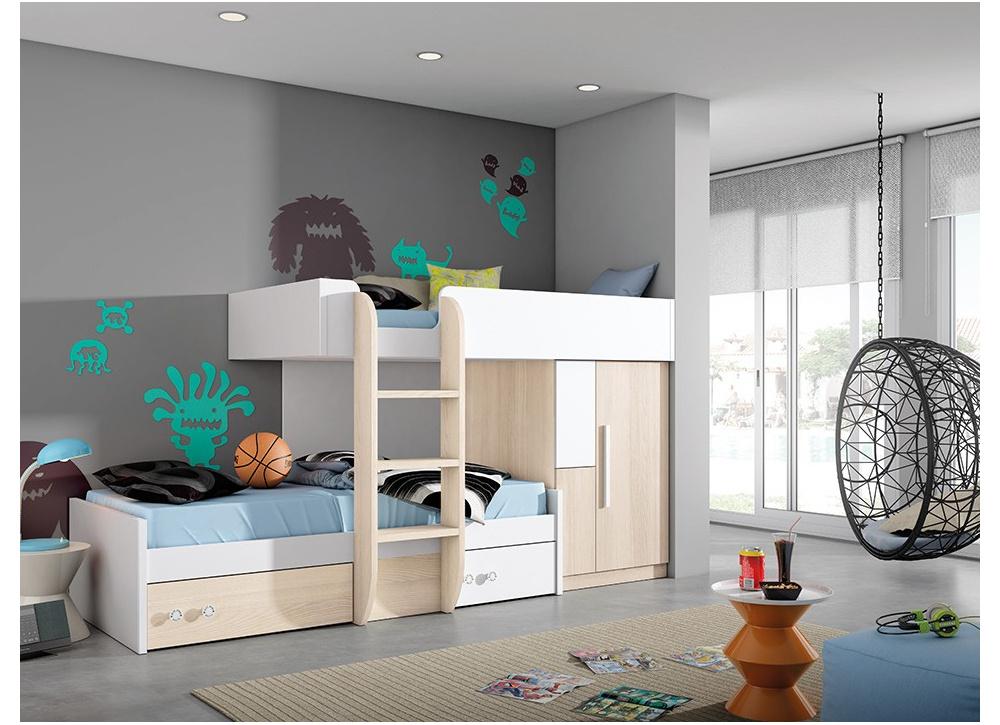 Comprar compacto juvenil eric precio conjuntos dormitorios juveniles - Habitaciones juveniles tipo tren ...