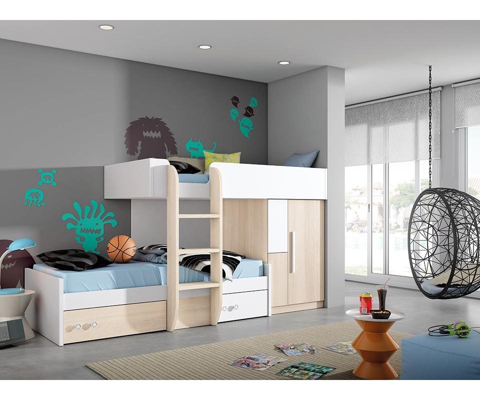 Comprar compacto juvenil eric precio conjuntos for Dormitorios juveniles modernos precios