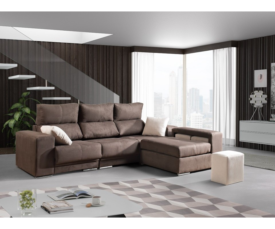 Comprar sof con chaise longue leeds precio de chaise for Sofa chester chaise longue