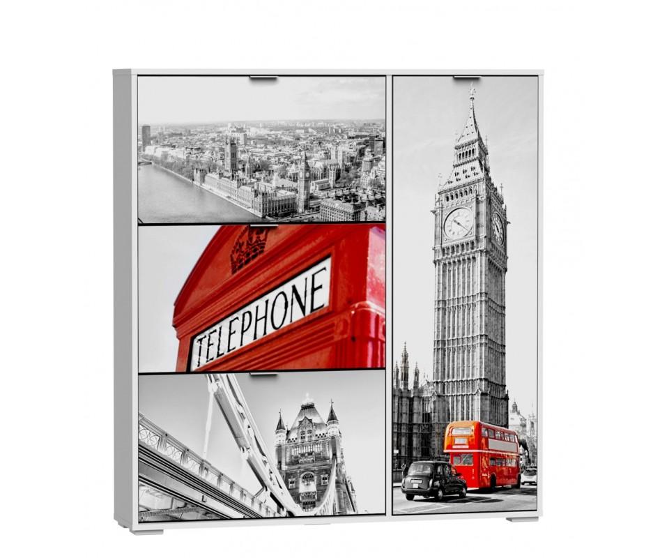 Comprar zapatero serigrafiado london precio zapateros for Zapatero serigrafiado