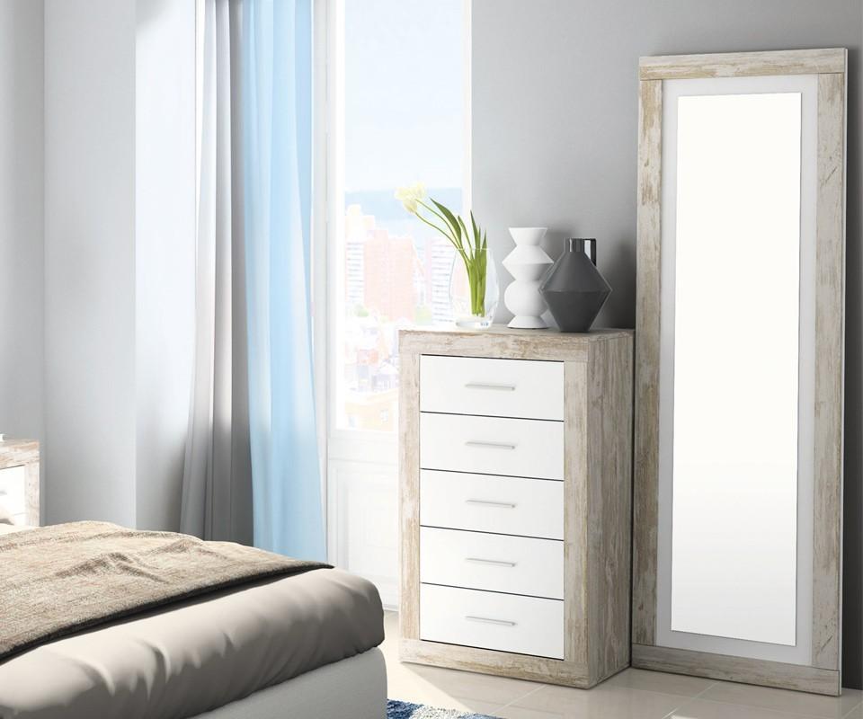 Espejo cuerpo entero pisa comprar espejos en tuco for Espejos de pared madera