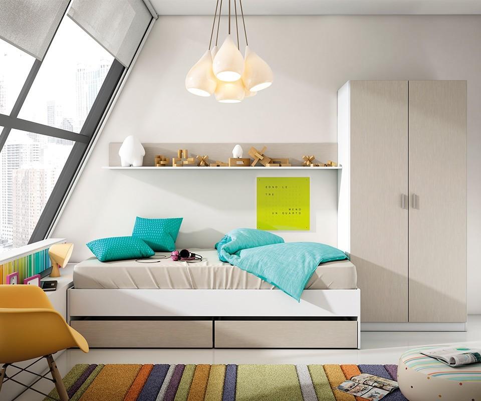 Estanter a para dormitorio juvenil alex comprar - Estanterias para dormitorios ...