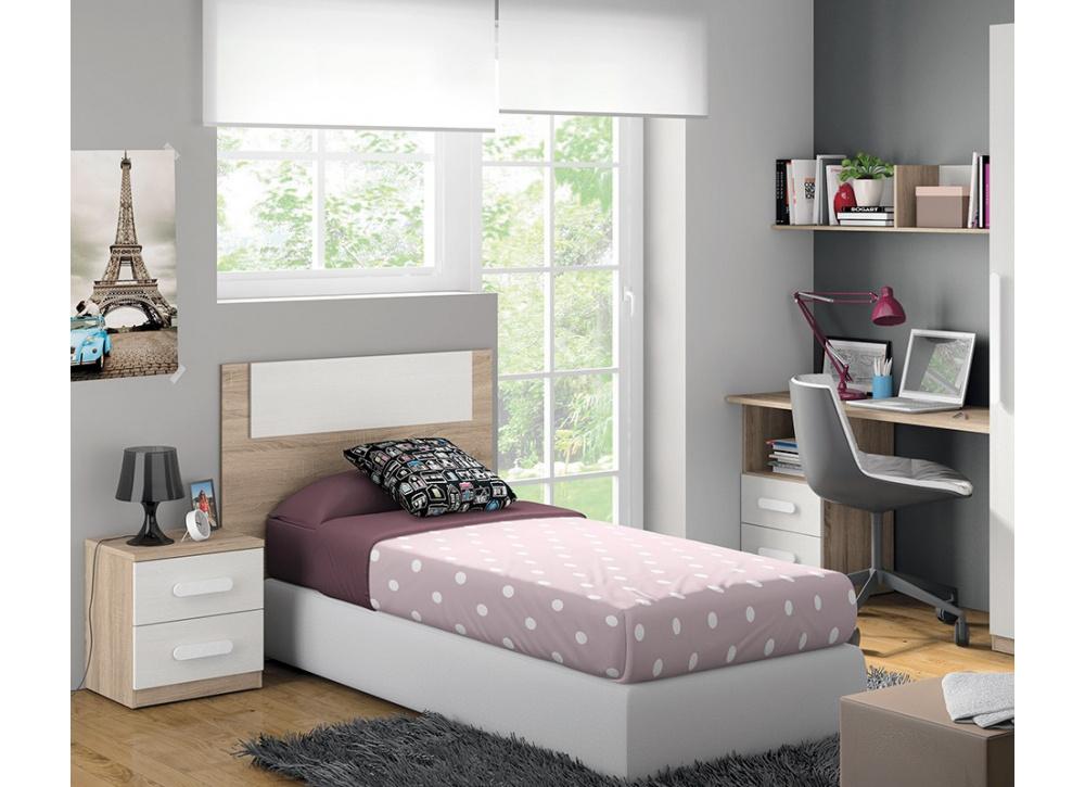 Cabecero de cama juvenil luc a comprar cabeceros en muebles tuco - Cama individual juvenil ...