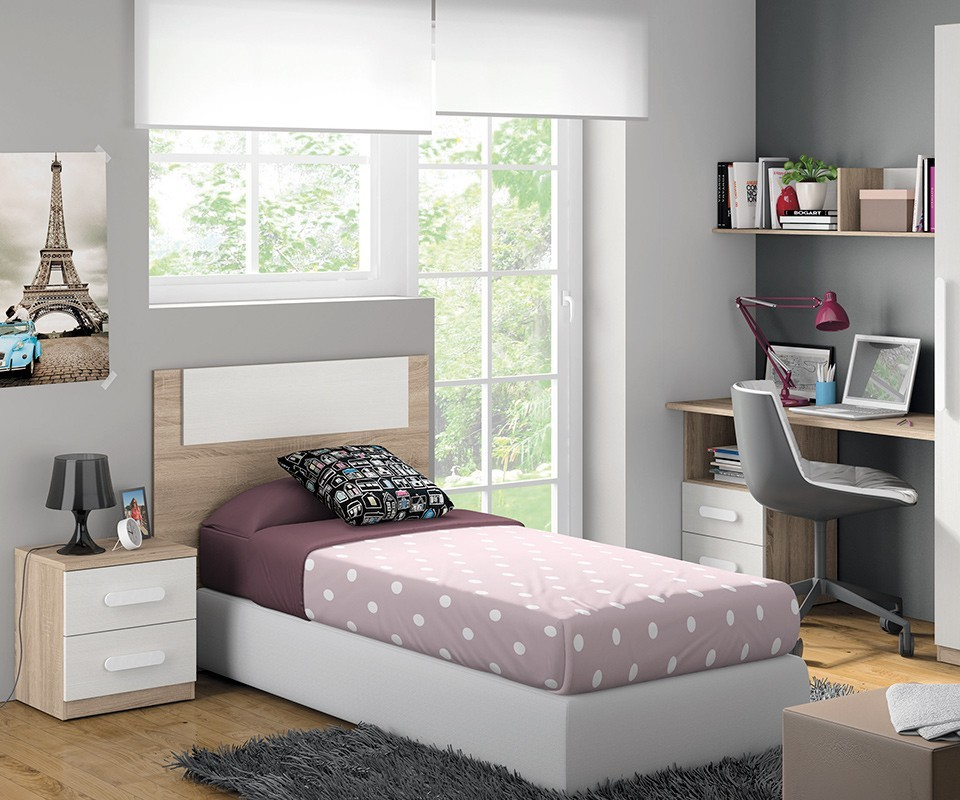 Mesilla de noche juvenil luc a comprar mesillas en for Habitaciones juveniles cama 105