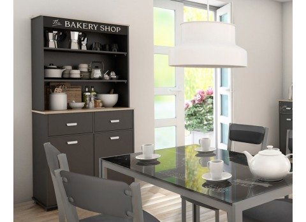Mueble auxiliar dos puertas y dos cajones Bakery