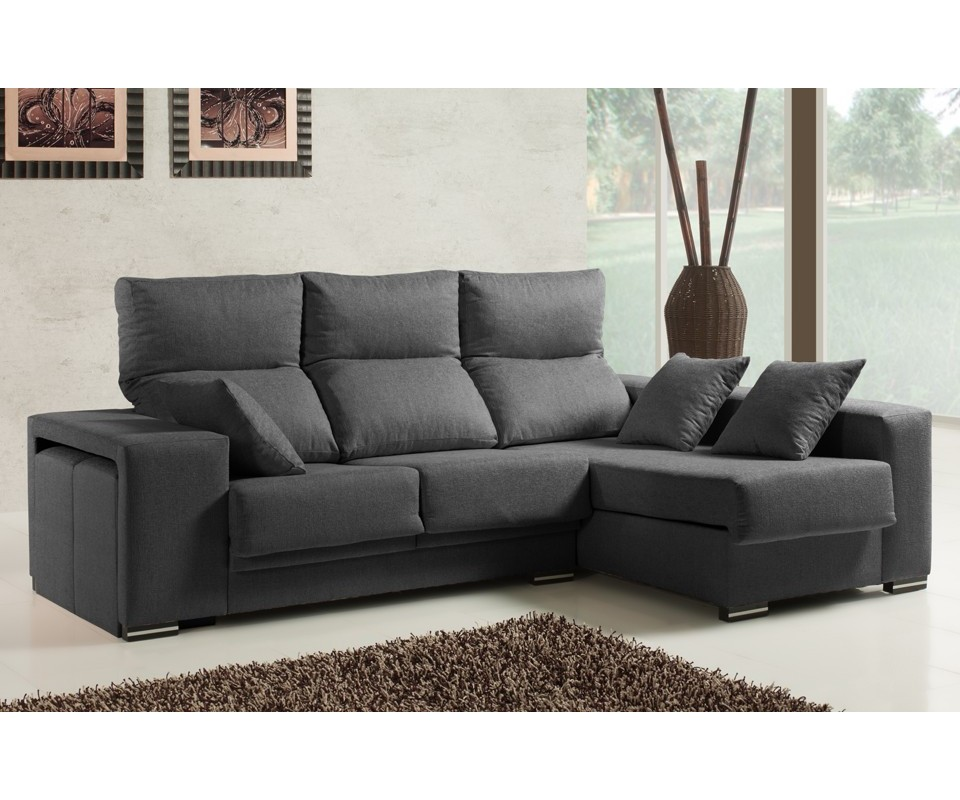 Comprar sof con chaise longue las vegas precio chaise for Sofa 4 plazas mas chaise longue