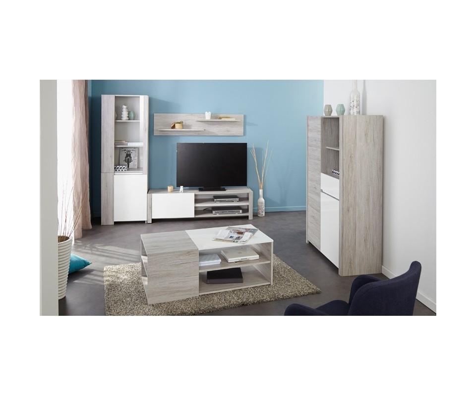 Mueble para tv lua comprar muebles para tv en muebles rey for Mueble organizador de 9 cubos