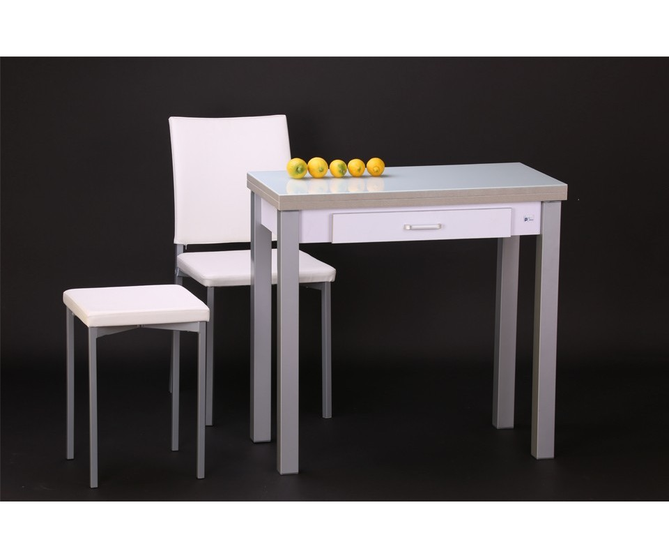 Comprar mesa de cocina con caj n areyns comprar mesas de for Mesas para cocinas estrechas