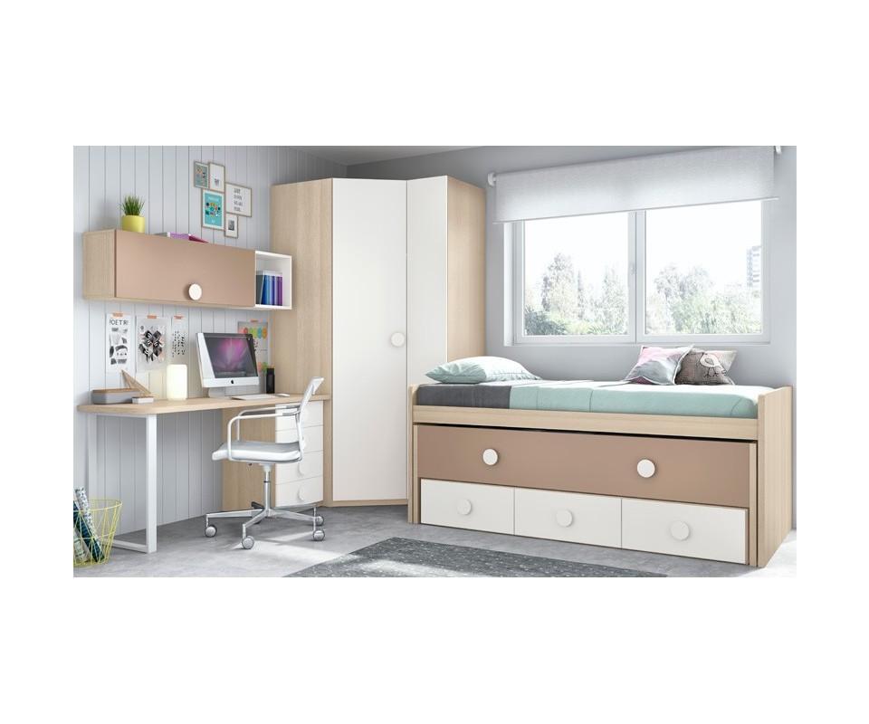 Comprar cama nido con cajones vega comprar camas nido en for Dormitorios cama nido con cajones