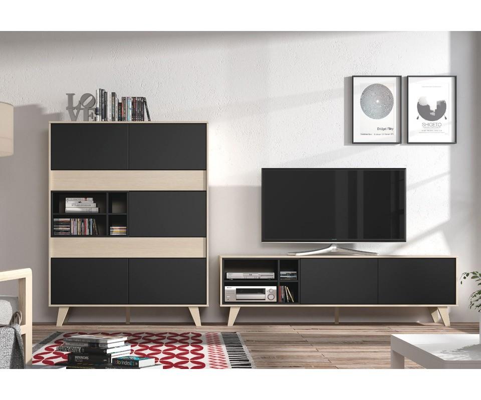 Comprar vitrina y mueble tv lennon precio muebles sal n for Muebles de tv modernos precios