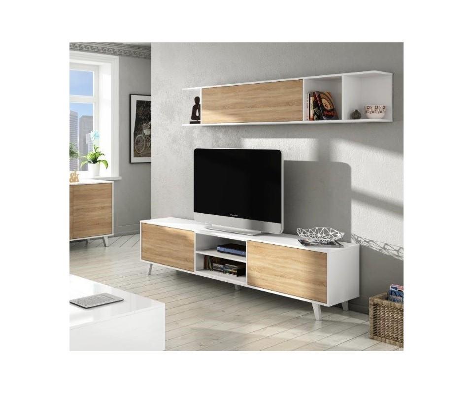 Muebles librerias modernas mueble saln moderno barato for Muebles baratos en sevilla outlet