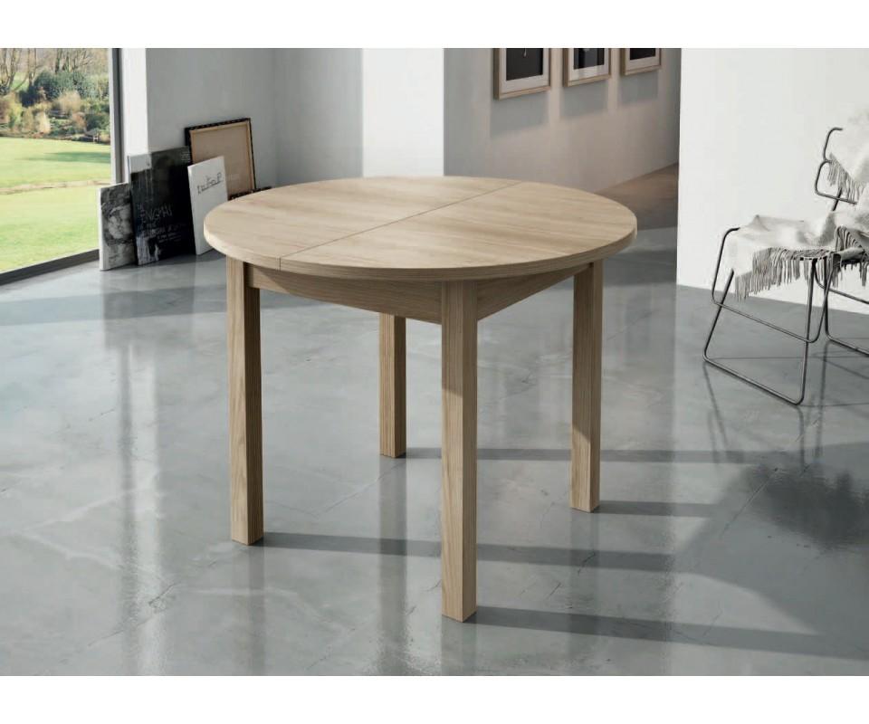 Comprar mesa de comedor redonda extensible lau for Mesas de comedor redondas extensibles de madera