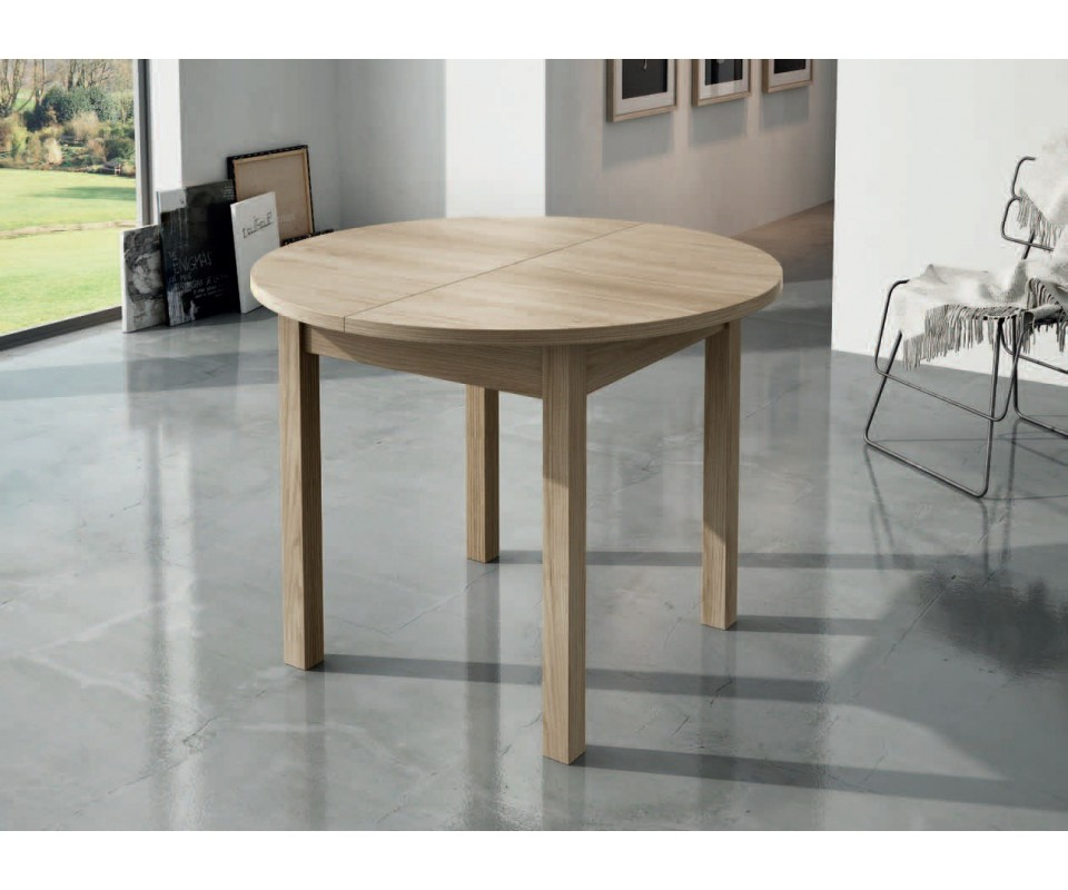 Comprar mesa de comedor redonda extensible lau - Mesas comedor redonda ...