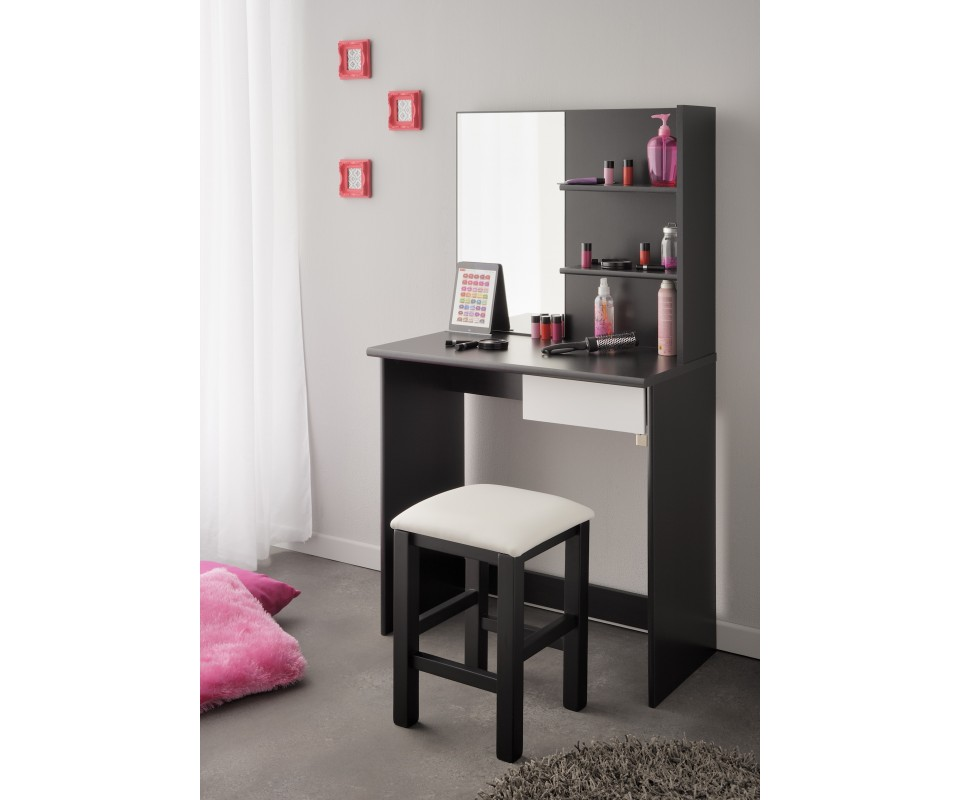 comprar tocador blanco y negro hill. Black Bedroom Furniture Sets. Home Design Ideas