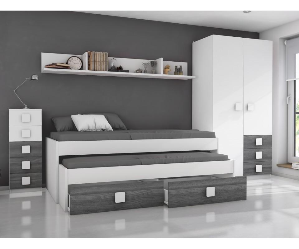 Comprar habitaci n juvenil rachel precio conjuntos for Precios de dormitorios juveniles