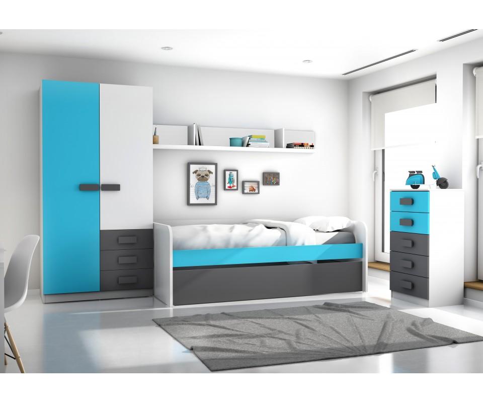Comprar cama nido fritz precio camas nido en for Dormitorios juveniles modernos precios