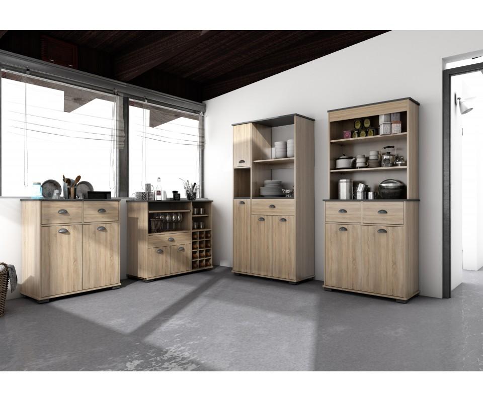Mueble alto con dos puertas y dos cajones bakery comprar - Muebles cocina auxiliares ...