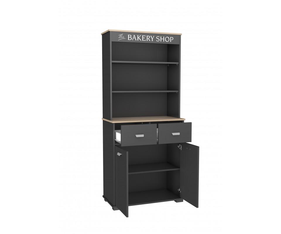 Mueble alto con dos puertas y dos cajones bakery comprar for Mueble dos puertas
