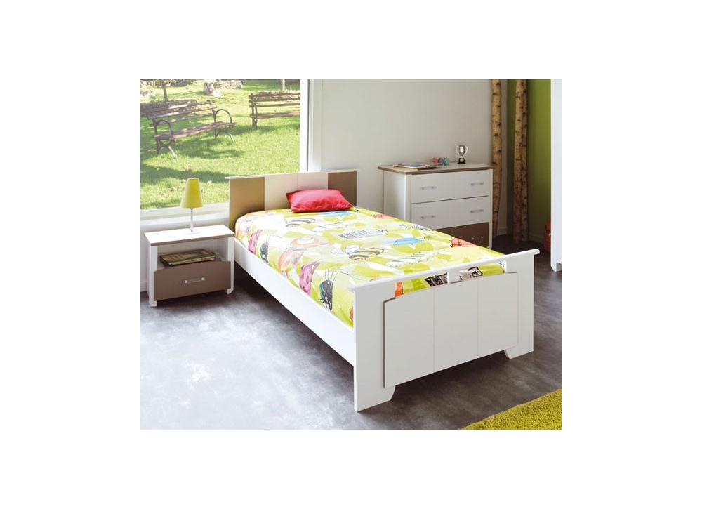 Camas blancas juveniles cama nido compacta juvenil for Cama nido blanca barata
