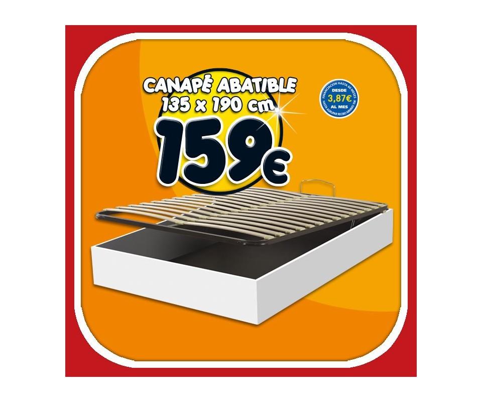 Comprar canape abatible 135 x 190 precio colchones for Precio somier 135