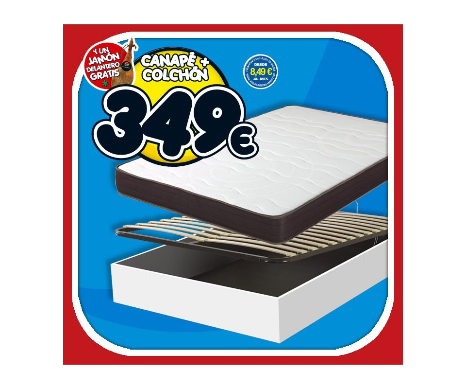 Comprar canape abatible colch n 135 x 190 precio for Canape y colchon 135