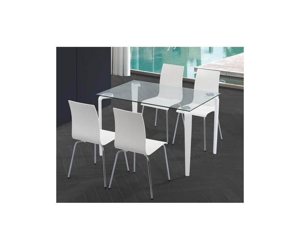 Comprar conjunto mesa y 4 sillas precio mesas y sillas for Mesa cristal tuco