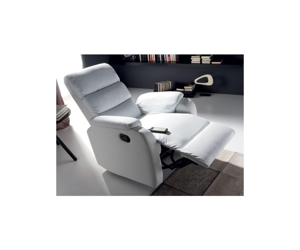 Comprar sill n relax blanco con masaje oferta precio for Sofas y sillones precios