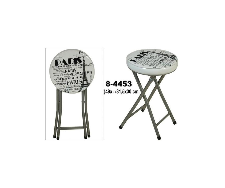 Comprar taburete plegable parisien precio sillas de - Taburetes plegables cocina ...