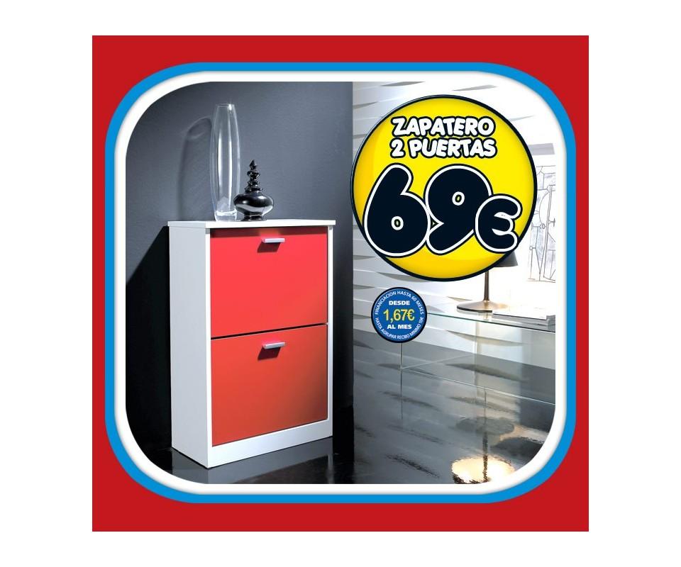 Comprar zapatero 2 puertas precio muebles auxiliares for Zapatero 2 puertas