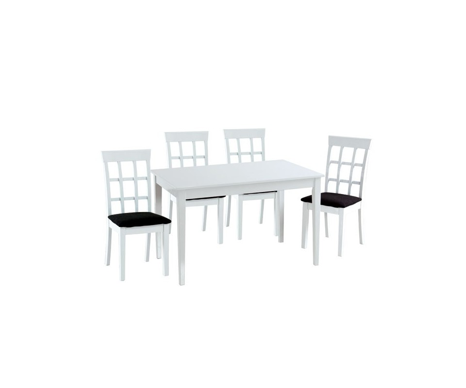 Comprar mesa comedor blanca precio mesas y sillas for Mesa comedor ovalada blanca