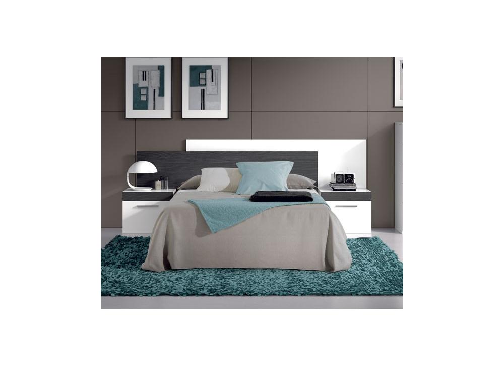 Comprar dormitorio moderno blanco y negro oferta precio - Dormitorios blancos modernos ...