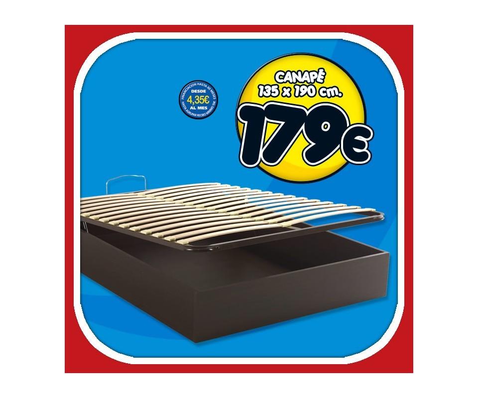 Comprar canap madera de 135 cm precio colchones for Precio somier 135