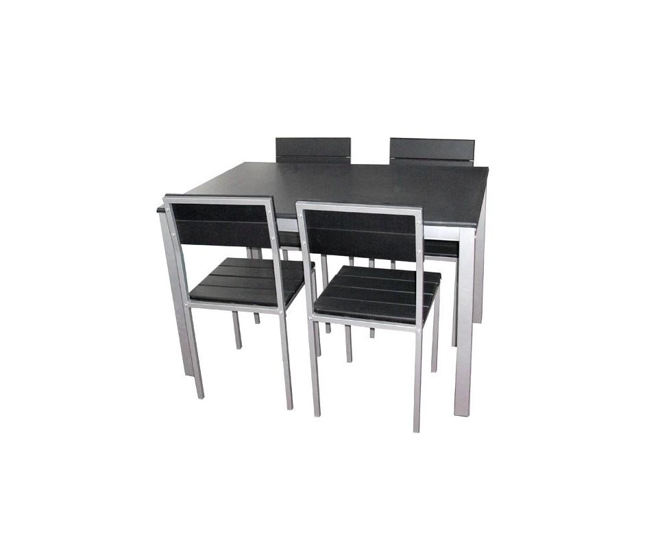 Comprar conjunto mesa 4 sillas barato precio mesas y for Conjunto comedor barato