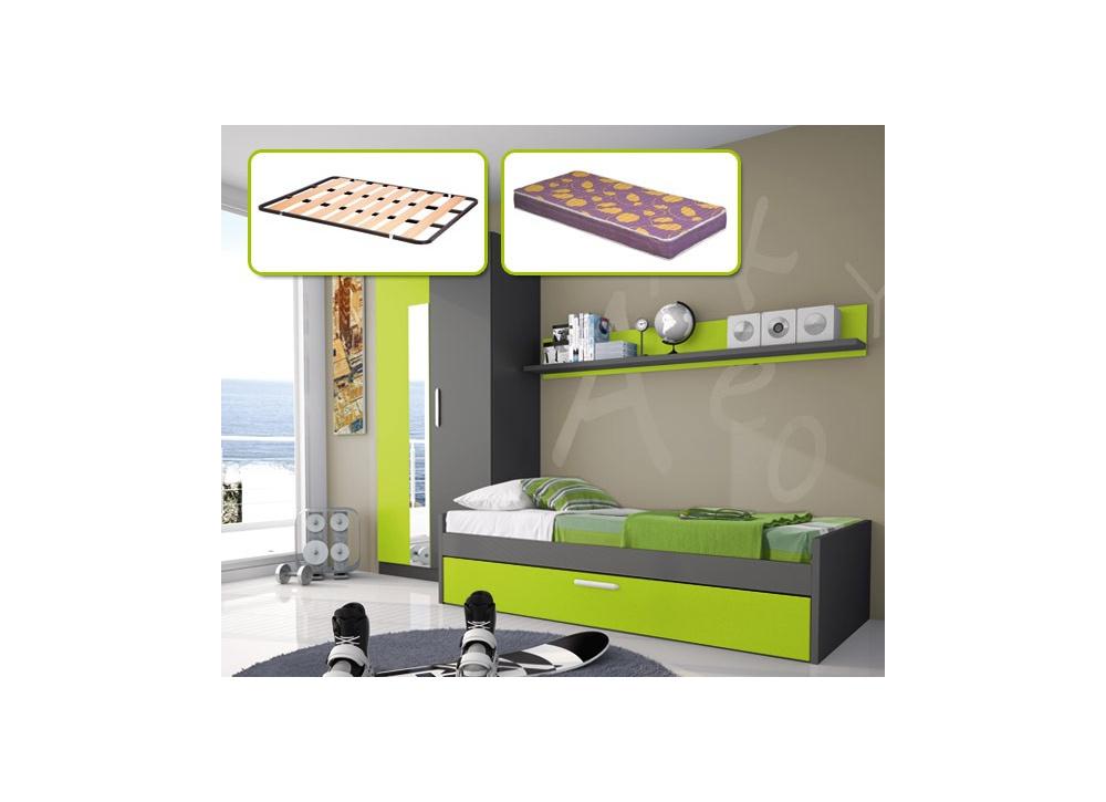 Comprar cama nido somier colch n precio juveniles - Somier con cama nido ...